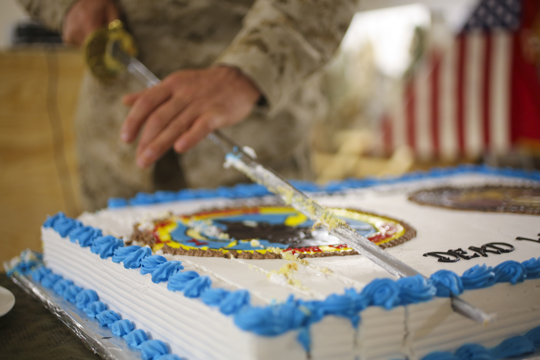 Images For Cake Cutting : File:U.S. Marine Corps Maj. Thomas Siverts, the executive ...