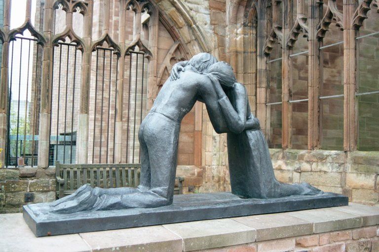 UK Coventry Statue-of-Reconcilliation