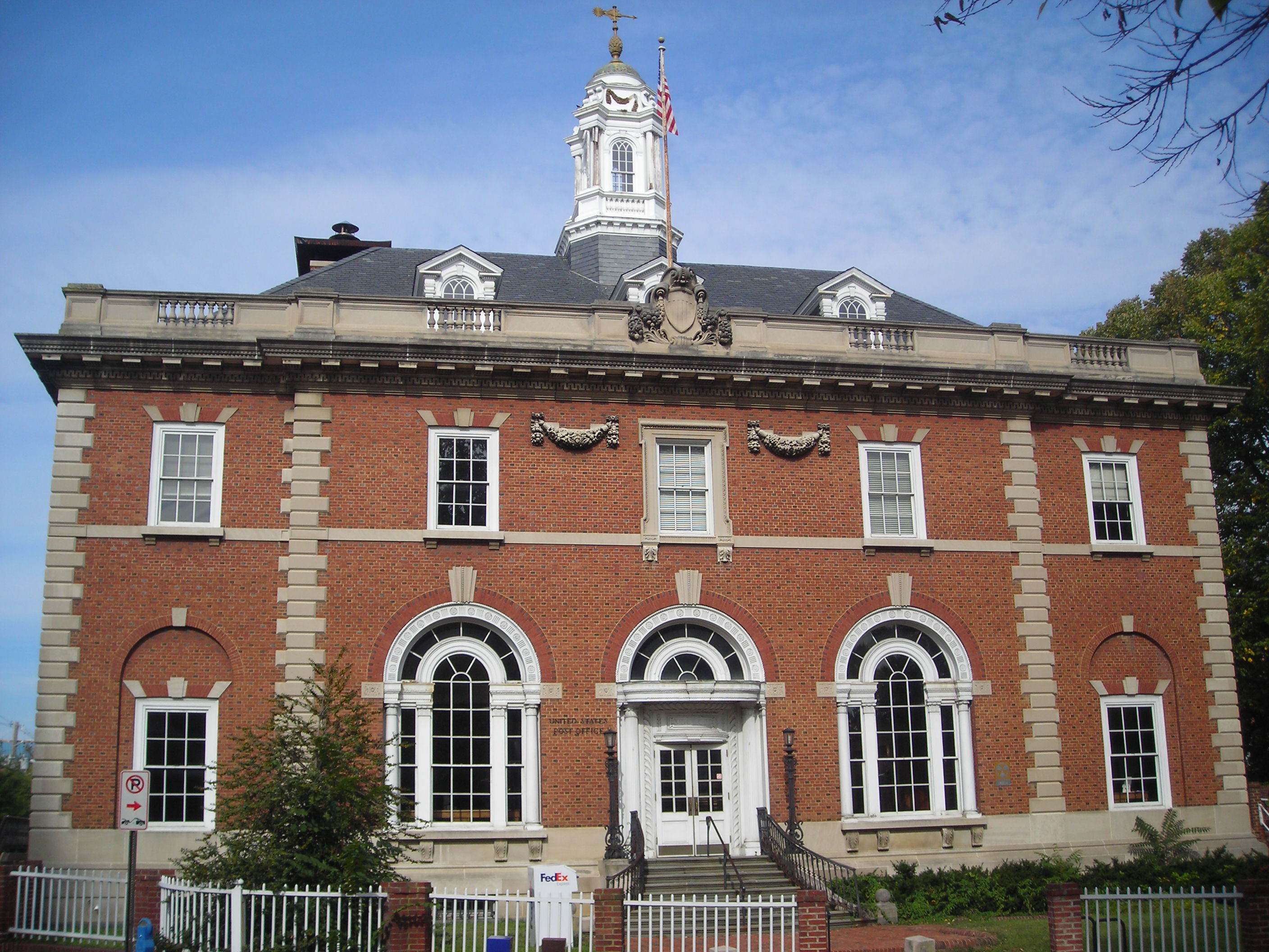 The Annapolis Main Post Office in October