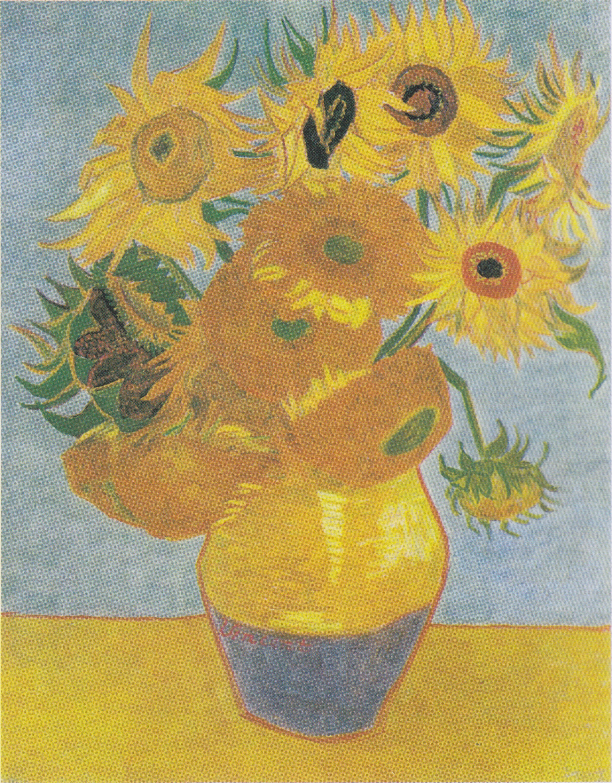 File Van Gogh Zw 246 Lf Sonnenblumen In Einer Vase1 Jpeg