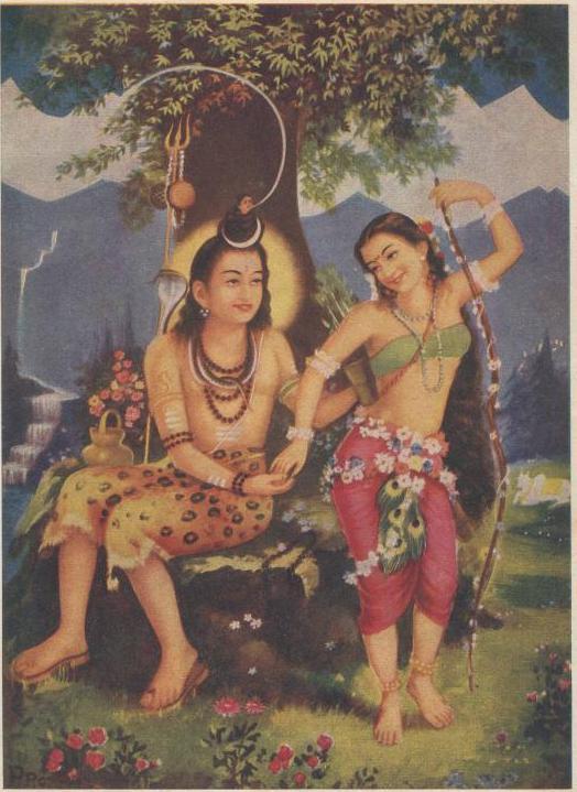 La forma e il suo attaccamento Vishwamohini_wth_Shiva