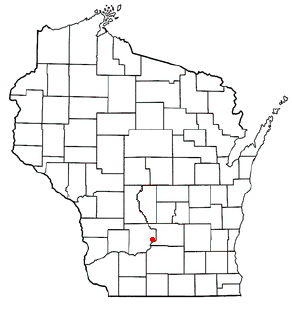 Location of Merrimac (town), Wisconsin