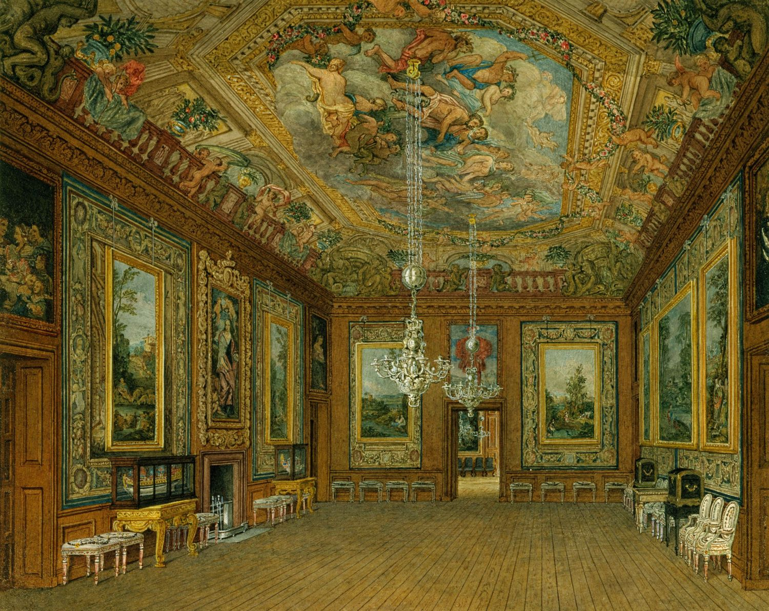 File Windsor Castle Queen S Drawing Room By Charles Wild