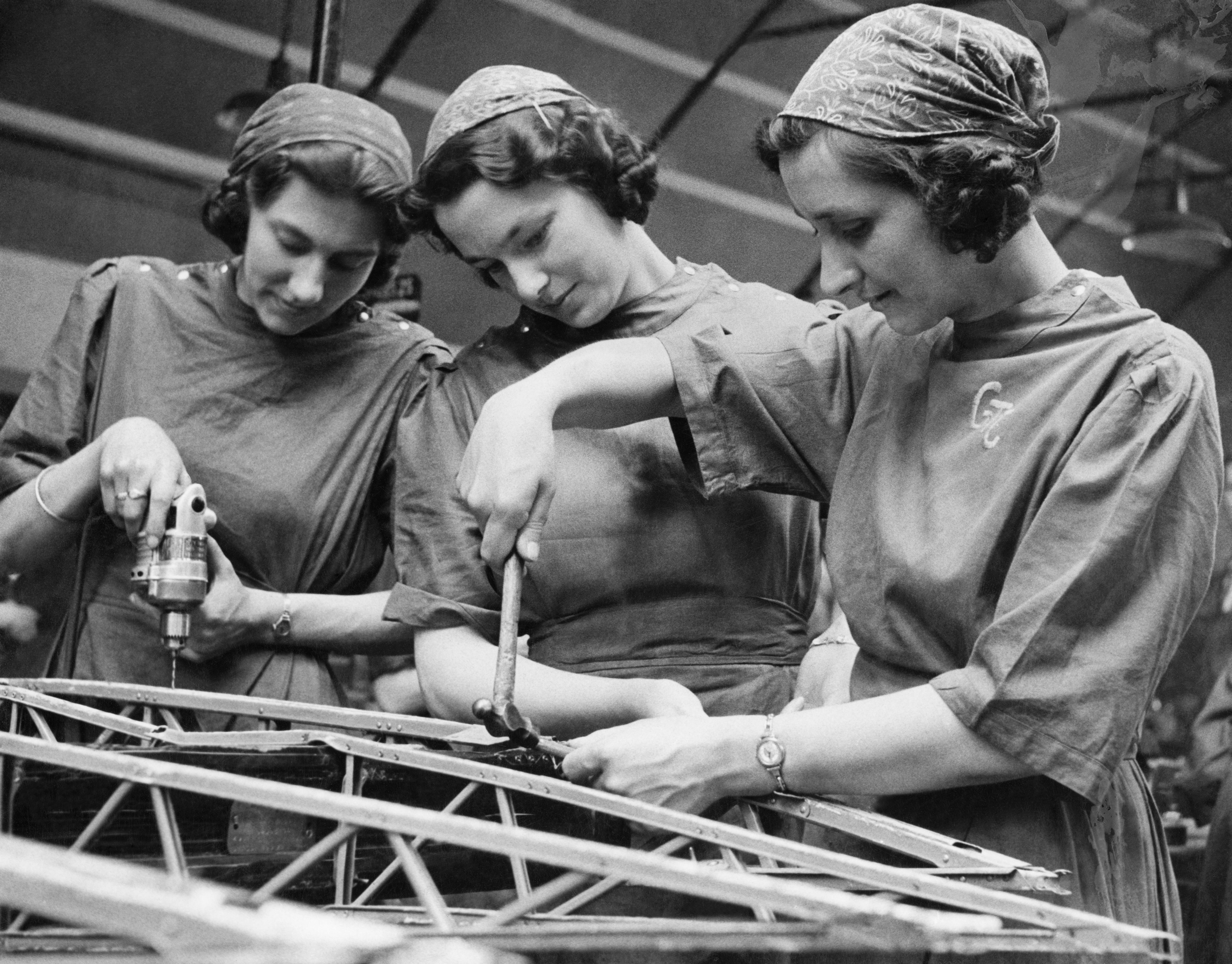 Mujeres trabajando Segunda Guerra Mundial