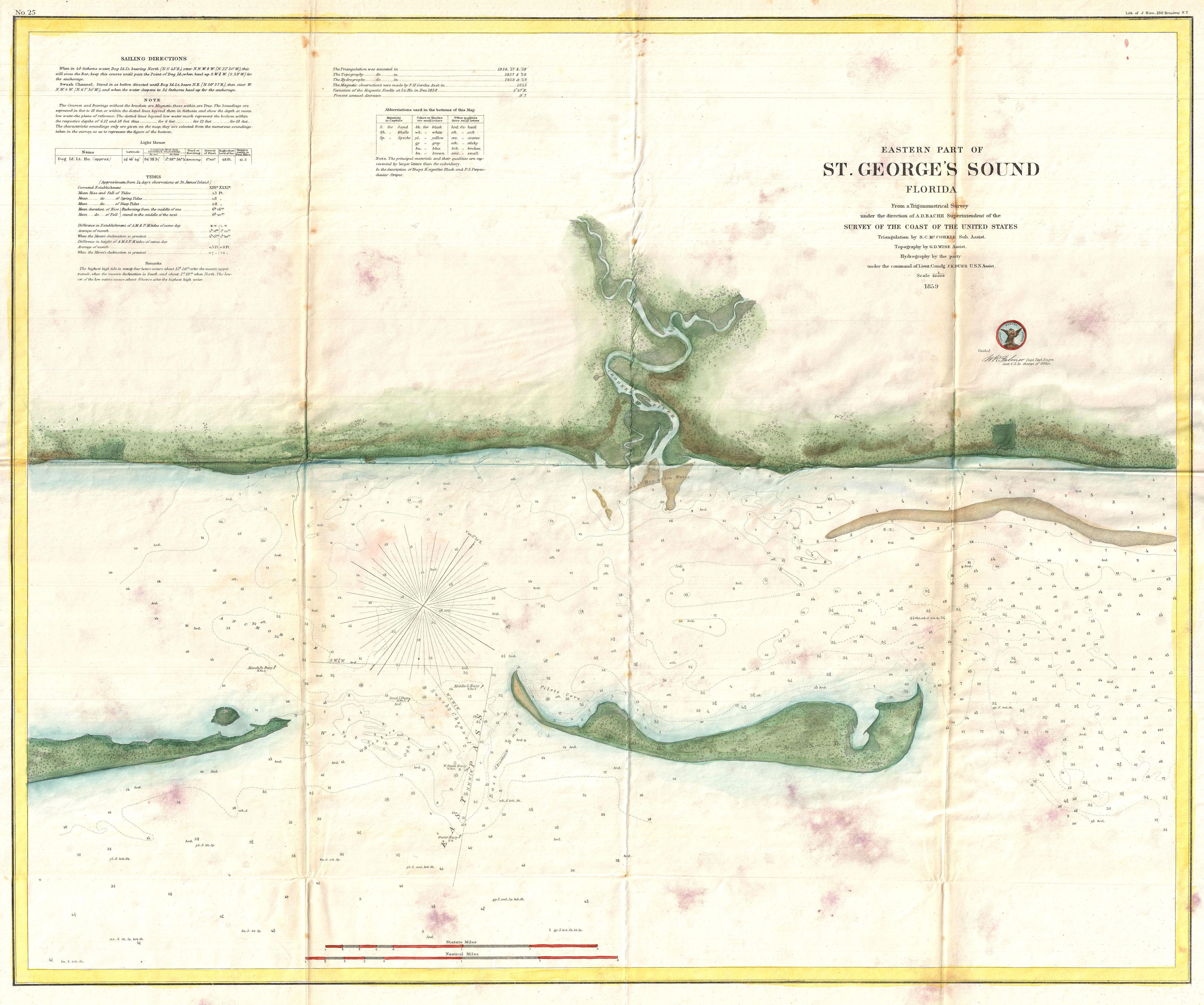 File:1859 U.S. Coast Survey Map of St. George Sound, Florida ...
