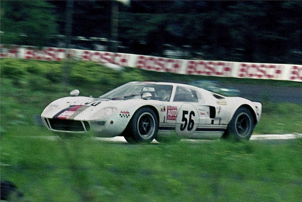 a ford gt40 mk i competing in the 1969 nurburgring 1000km race - 1966 Ford Gt40 Mk1