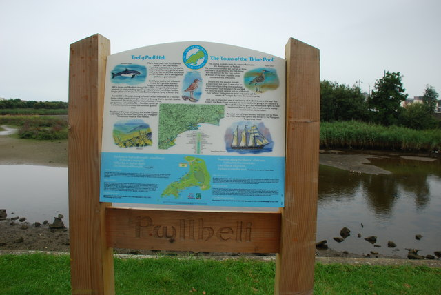 Afon Rhydhir a Bwrdd Gwybodaeth Pwllheli Afon Rhydhir and Information Board - geograph.org.uk - 543054