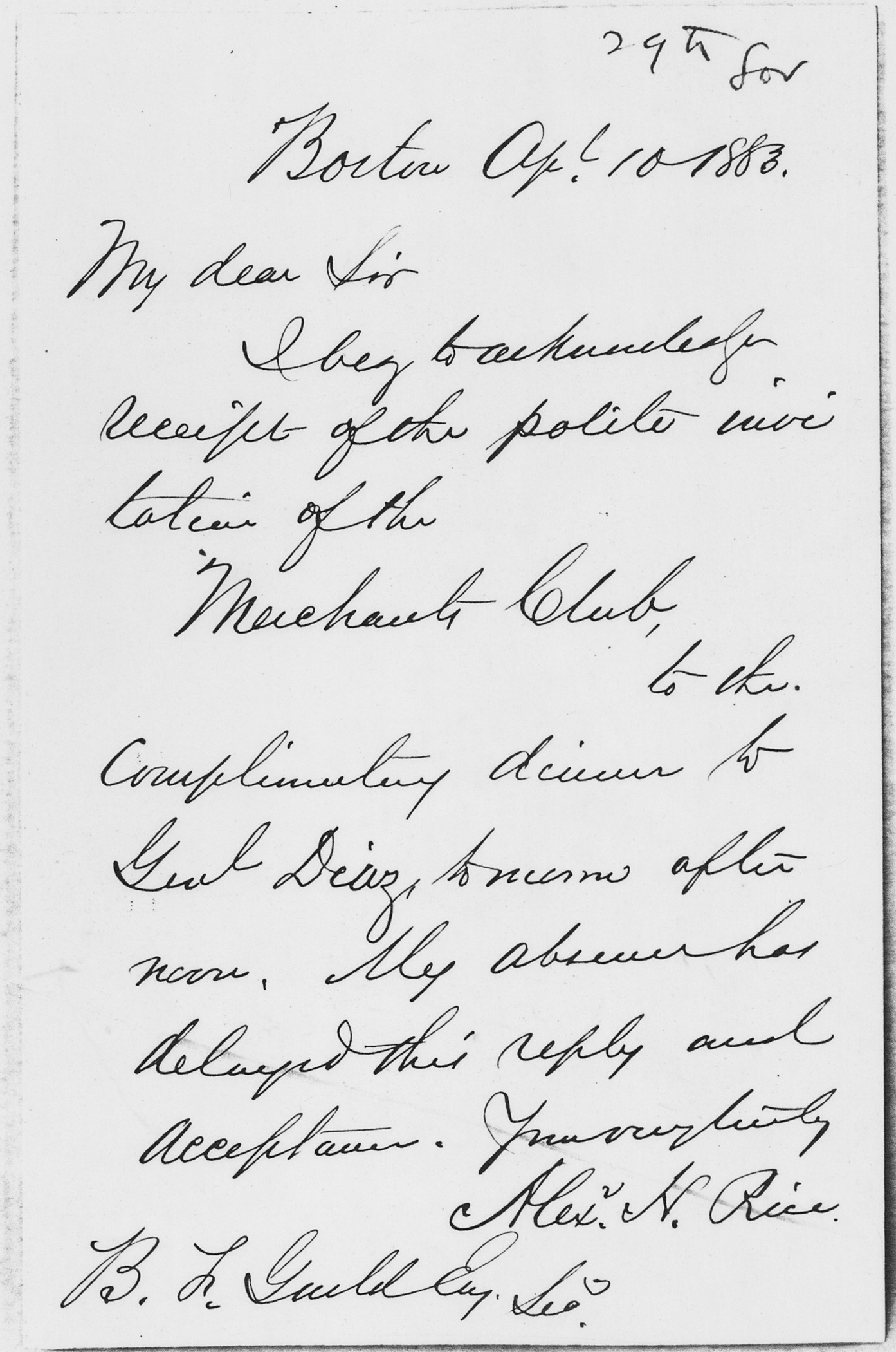 File:Alexander Rice Letter to B. F. Guild April 10, 1883   NARA