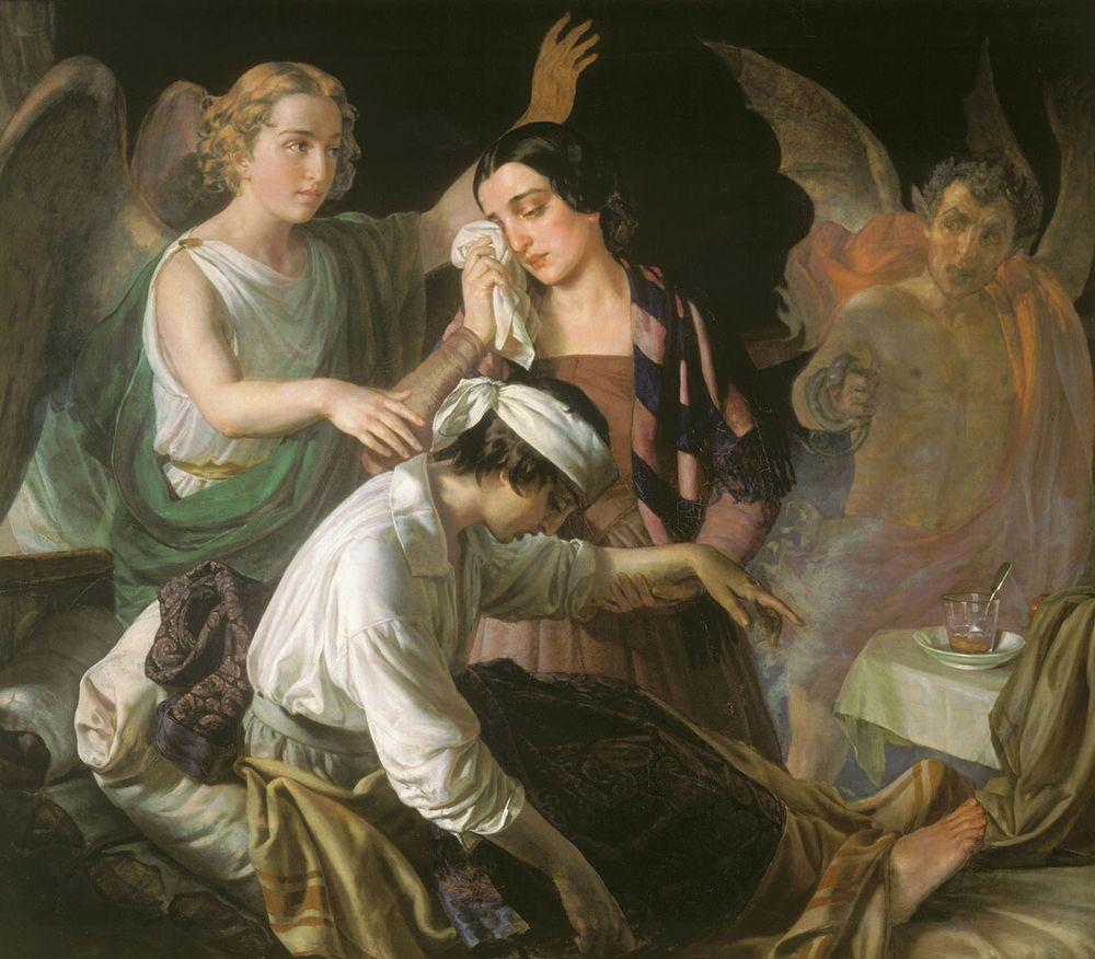 Alexey Tyranov. Angel fighting for the soul.jpg