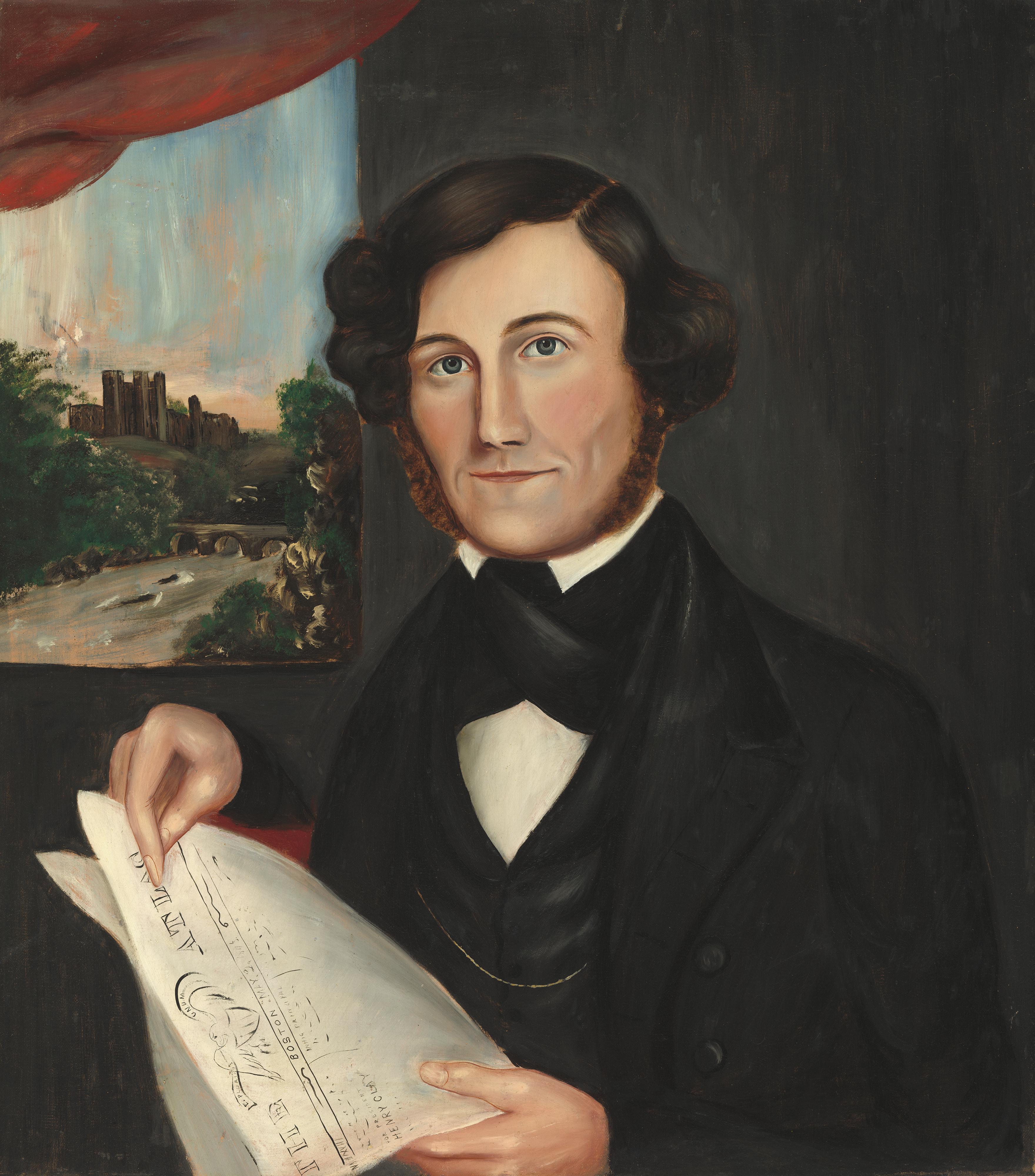 File:American 19th Century, Man Named Hubbard Reading 'Boston Atlas', 1843 or after, NGA 56729.jpg