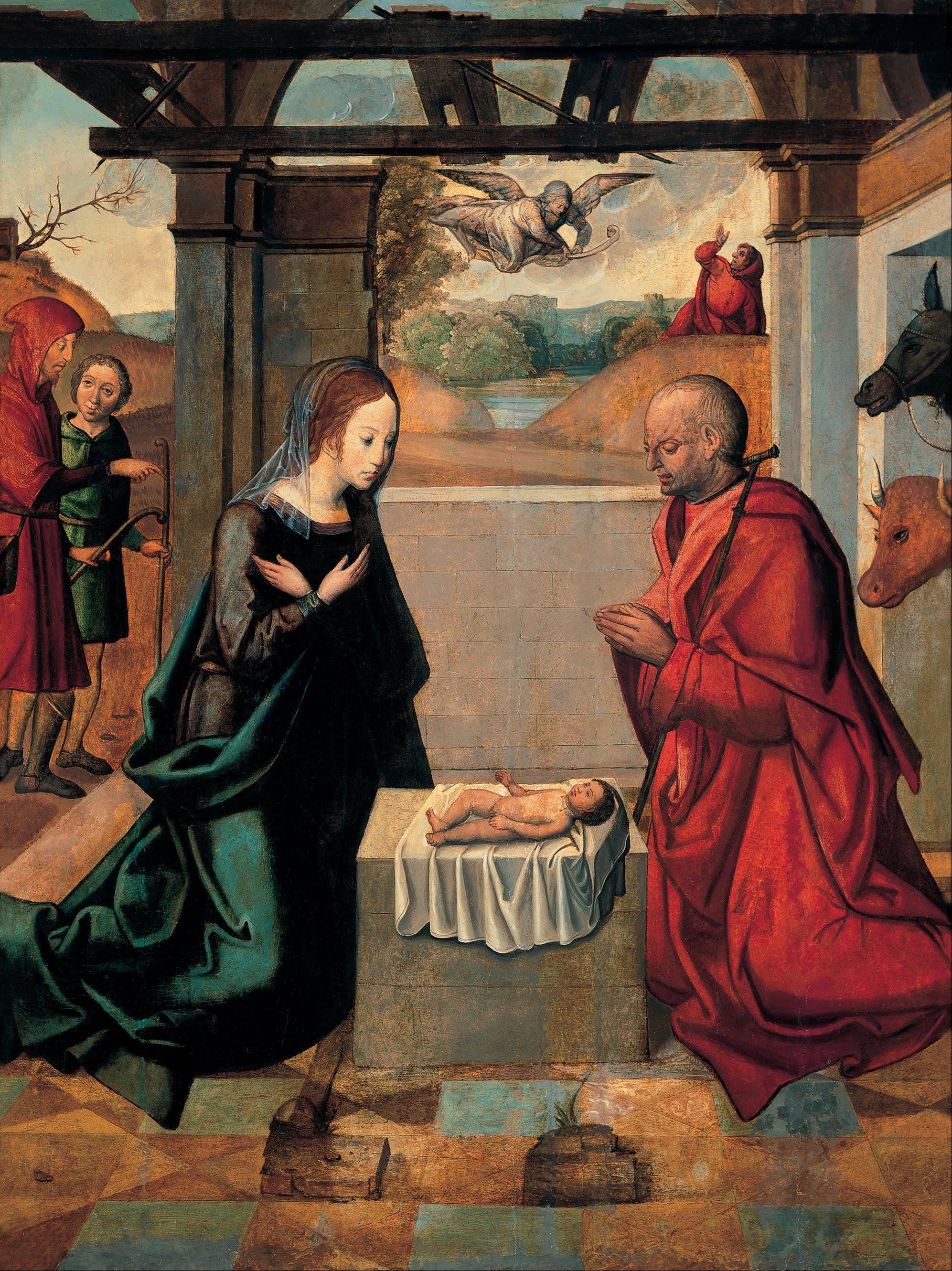 Anonymous The Birth of Christ — c. 1400 Museum Mayer van