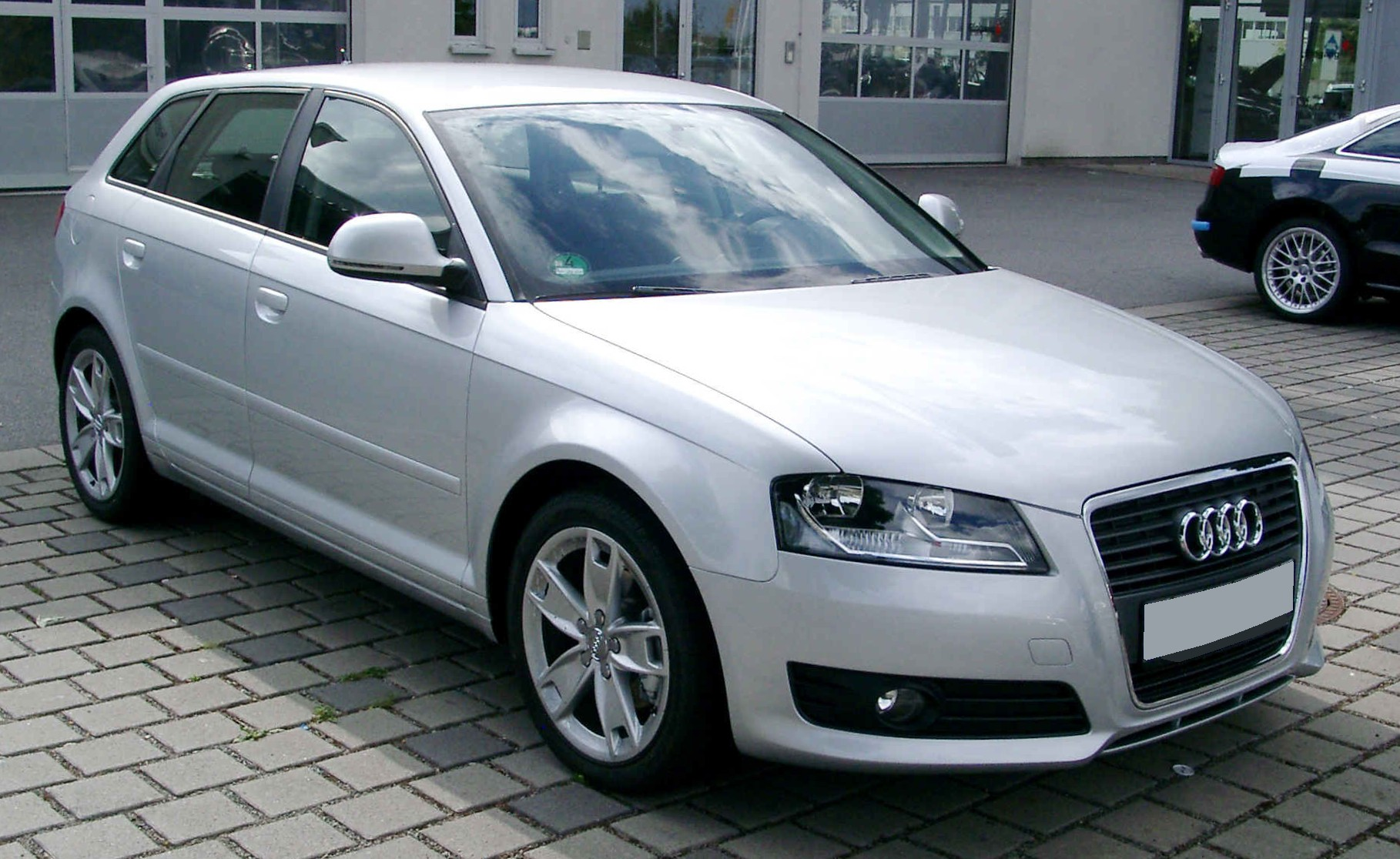 file audi a3 sportback front wikimedia commons. Black Bedroom Furniture Sets. Home Design Ideas