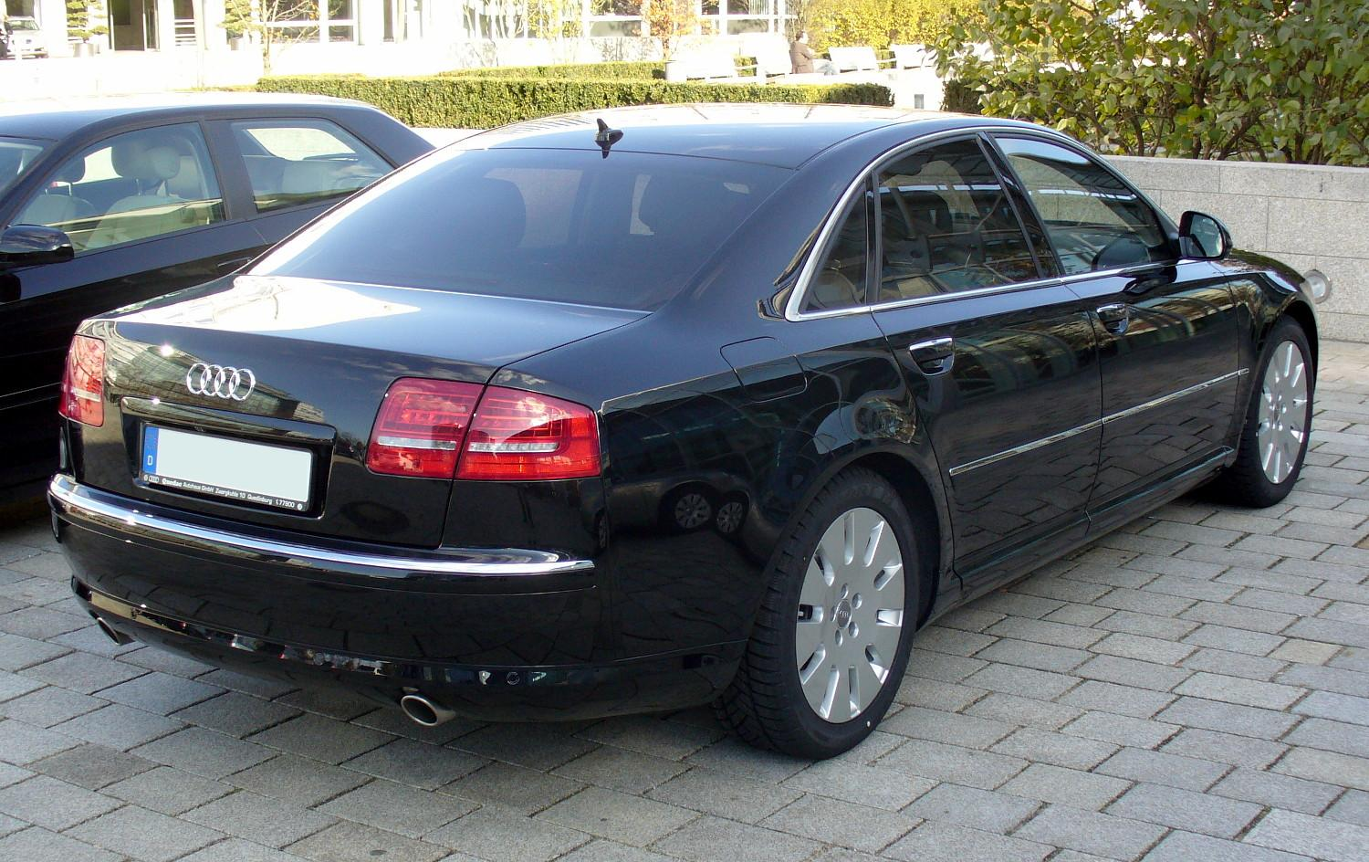 File Audi A8 Quattro Facelift Heck Jpg Wikimedia Commons