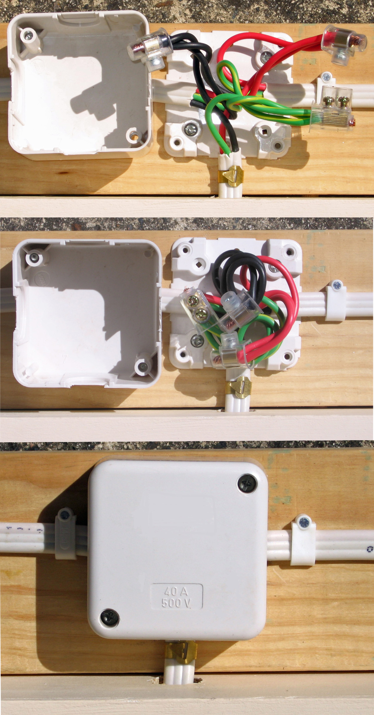file australian internal surface mounted junction box jpg rh commons wikimedia org Electrical Junction Box Installation Electrical Junction Box Installation