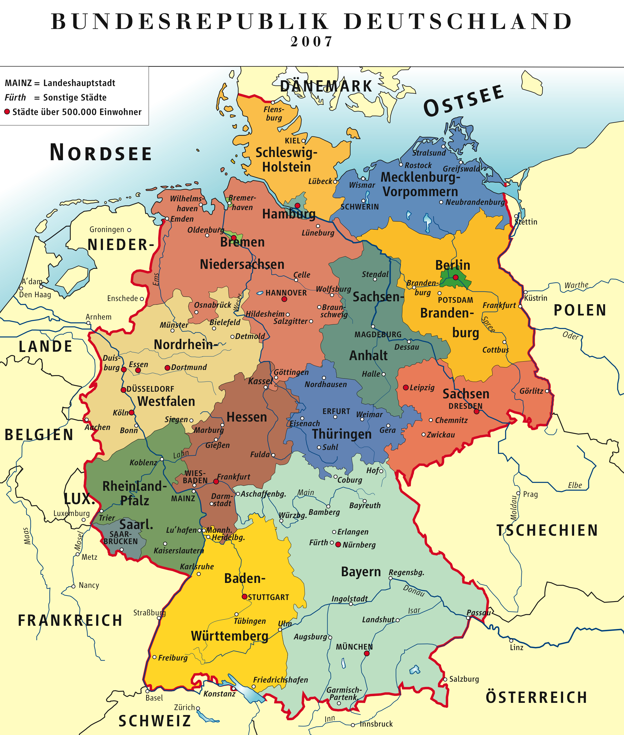 Map of »Federal Republic of Germany«