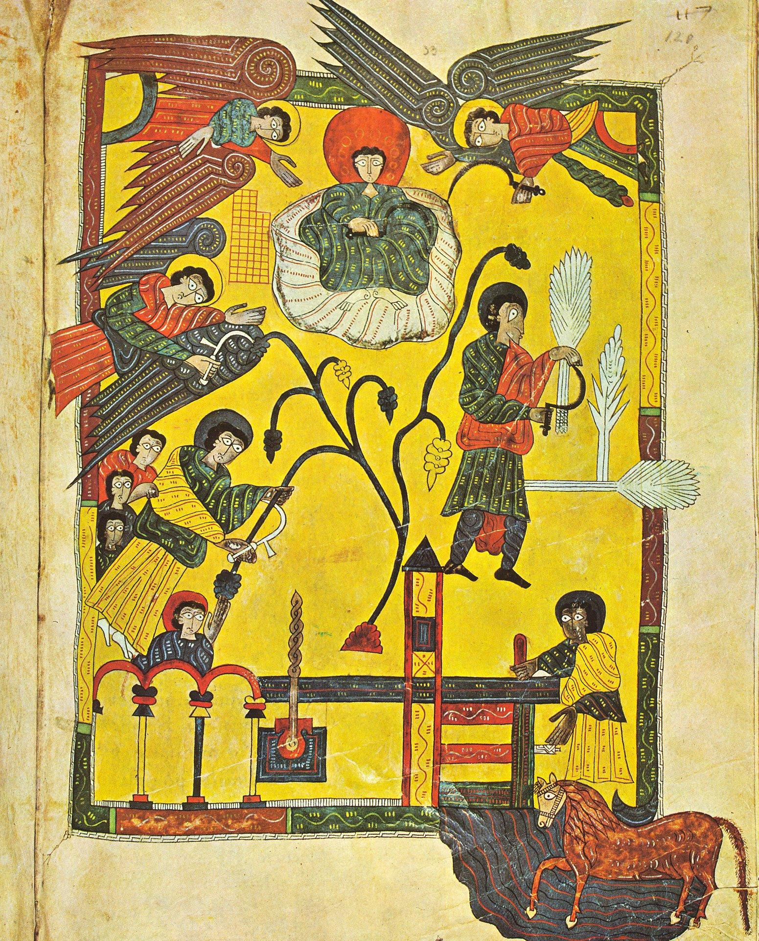Medieval winepress illuminations aliens in this world