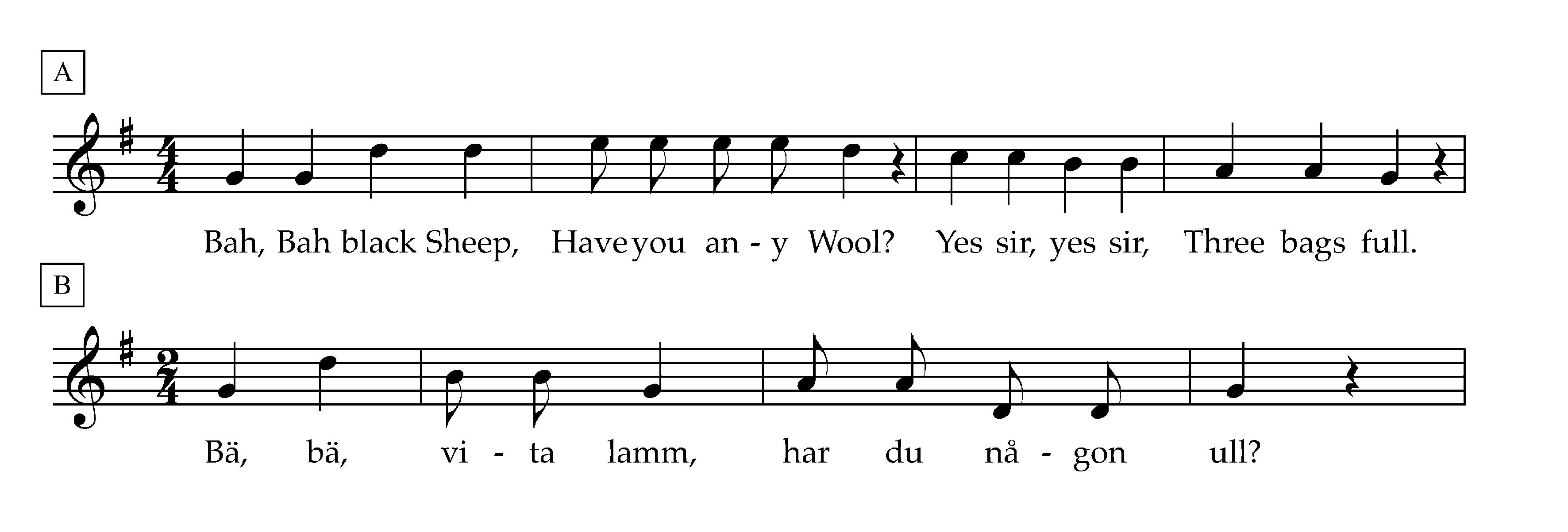 bä bä vita lamm text svenska