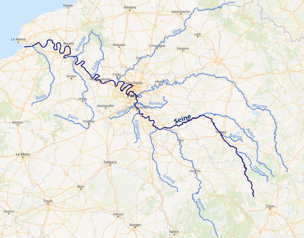la seine et ses affluents carte File:Bassin de la Seine.png   Wikimedia Commons