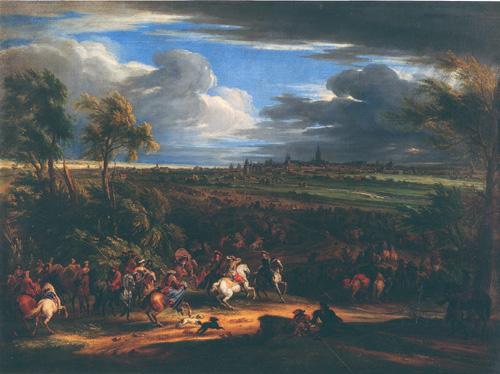 L'armée française devant Courtrai en juin 1667 par Adam François van der Meulen