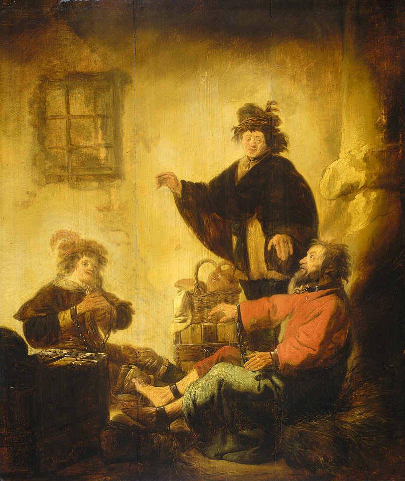 Joseph interpreting the dreams of the baker and the cupbearer, by Benjamin Cuyp, ca. 1630 available on wikipedia