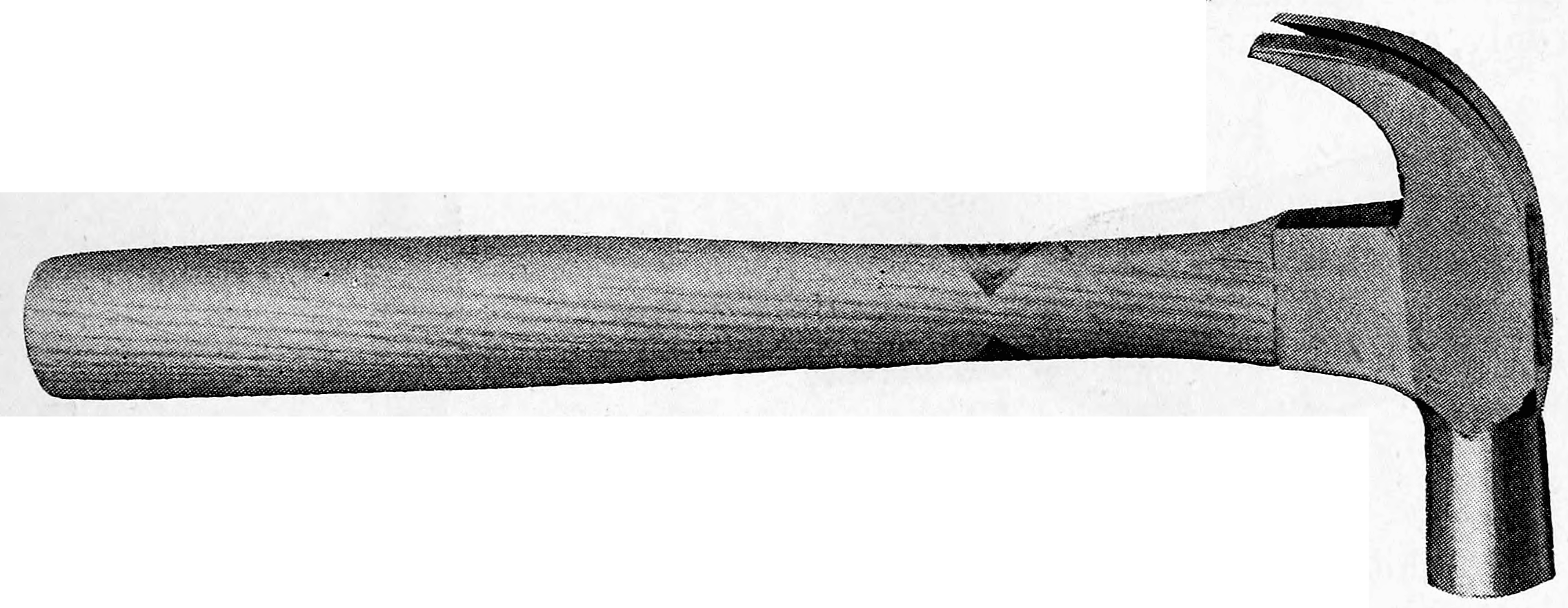 Cassells Carpentry.92 claw hammer.png English: wood working hand tools Date 1907 Source Cassells' Carpentry and Joinery Author C. W. D. Boxall
