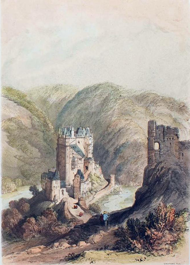 Castle of Elz on the Moselle