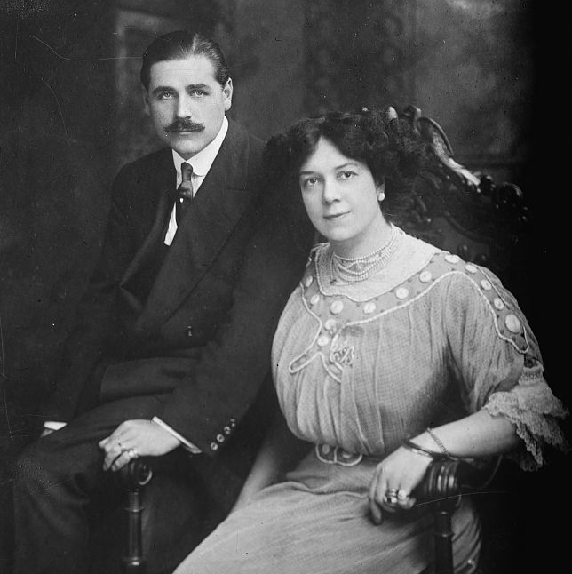 Butt with her husband Kennerley Rumford