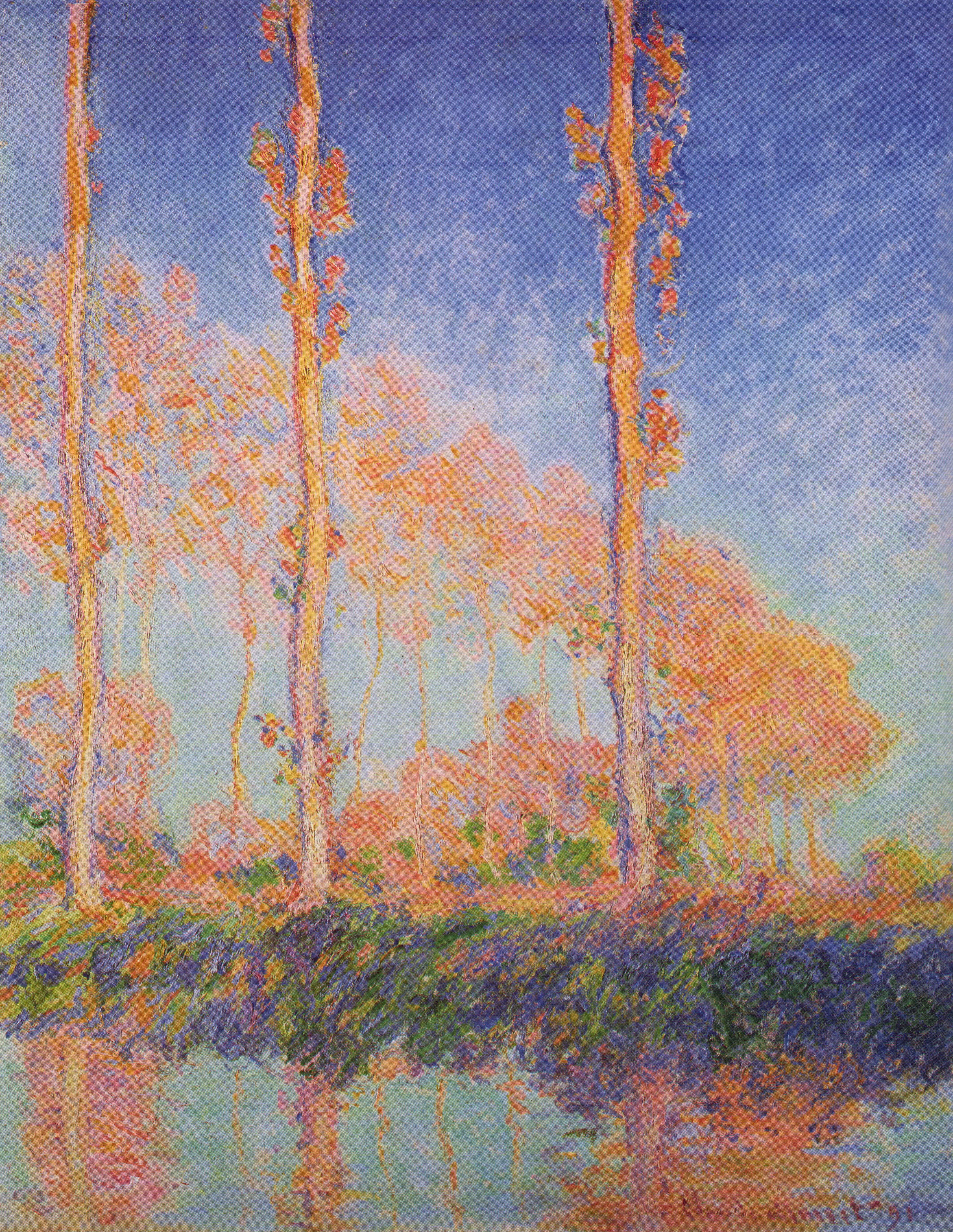File claude monet poplars philadelphia jpg wikimedia for Claude monet impressionist paintings