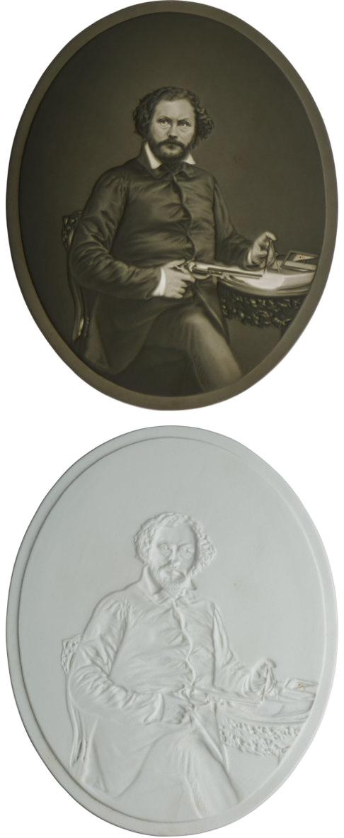 Colt lithophane 1855