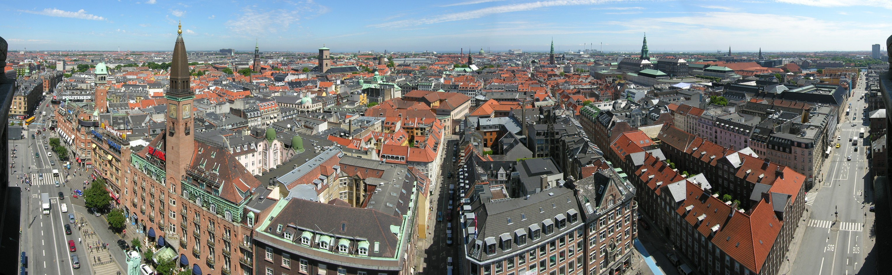 Copenhagen city center skyline, Denmark
