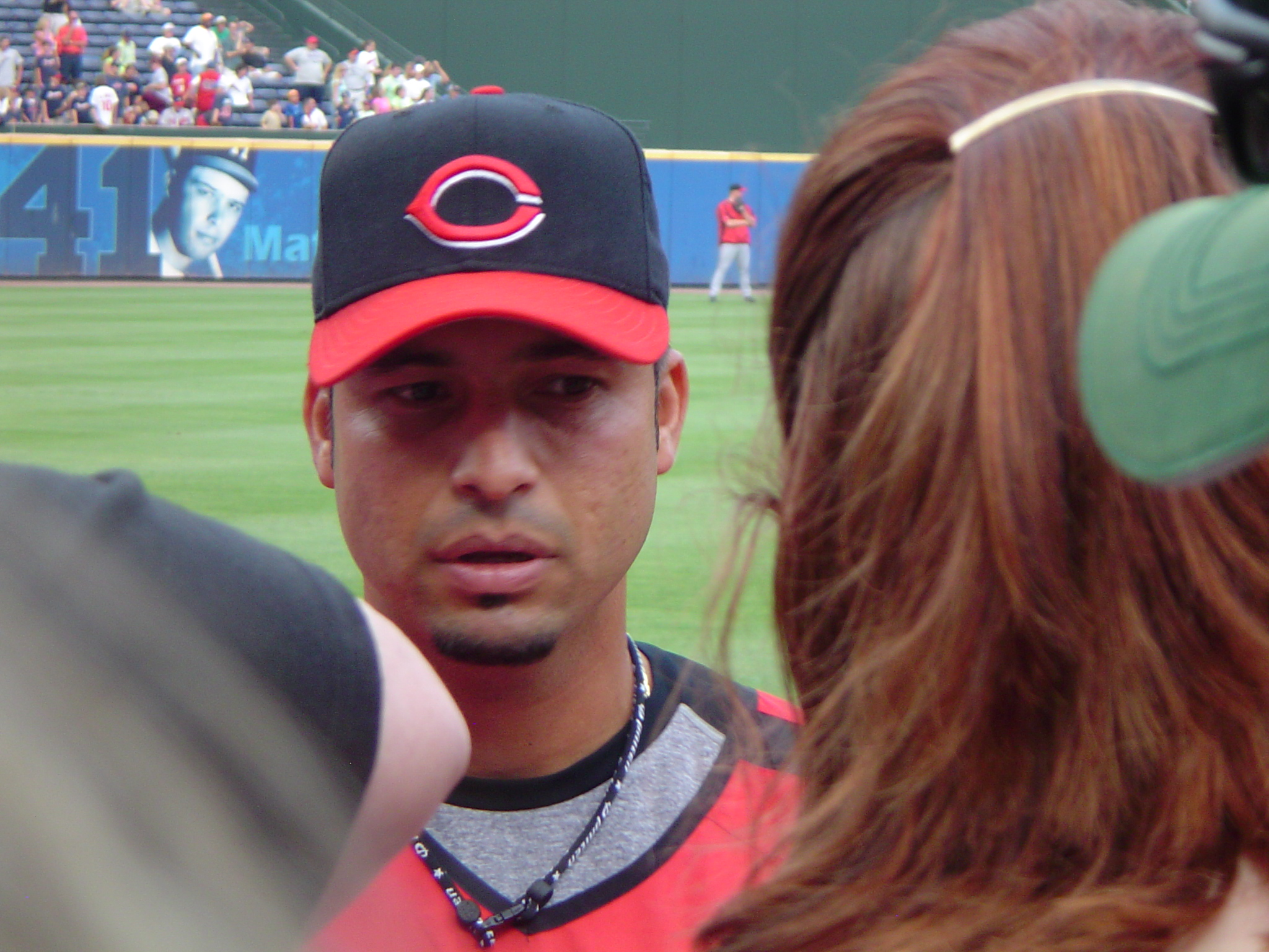 Castro speaking with the media