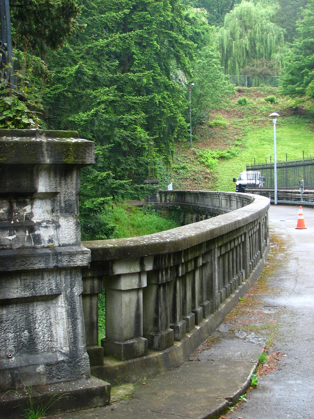File Damtop Rail At Reservoir 3 Washington Park Portland