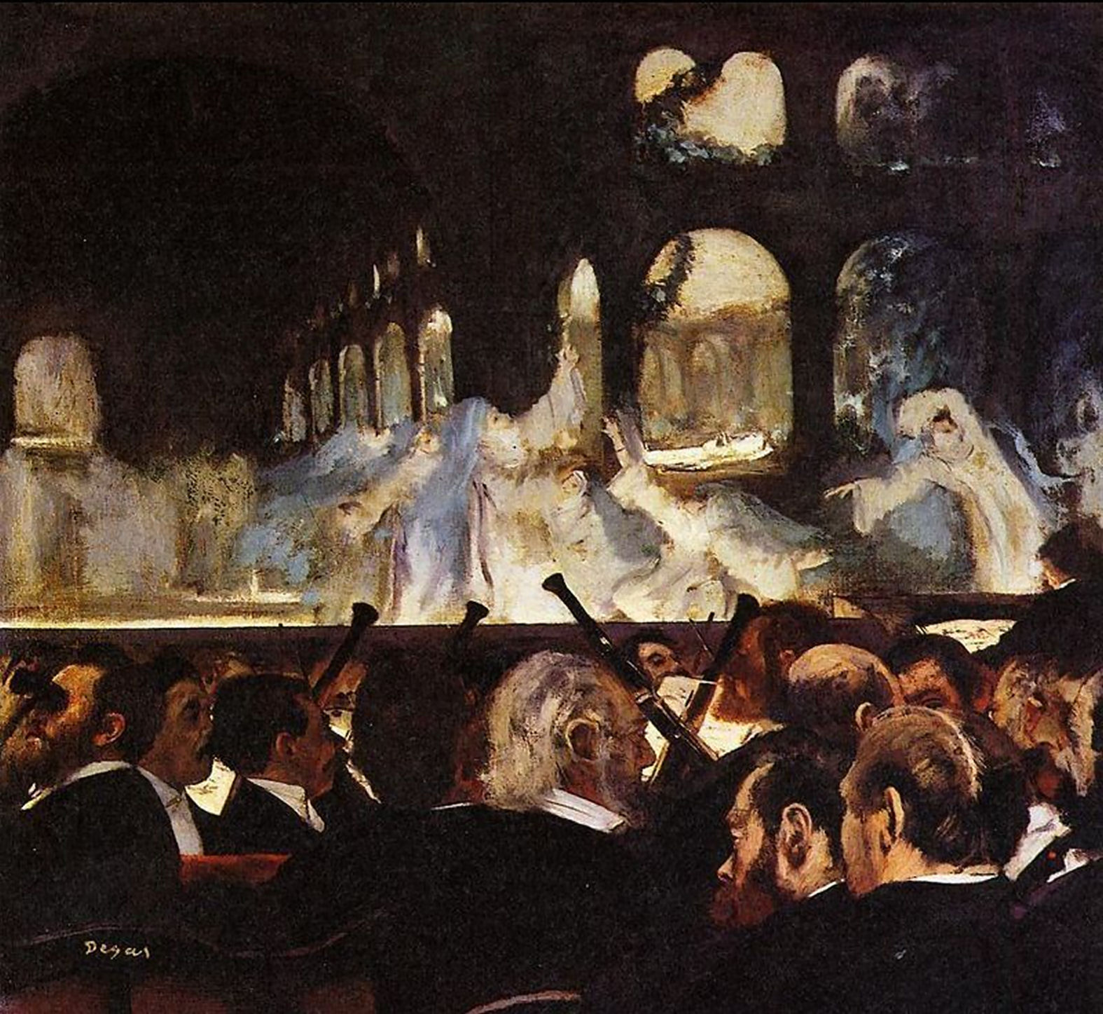 Edgar Degas ; Le Ballet de « Robert le Diable » (1876) e