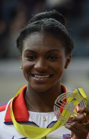 Dina Asher-Smith 60 Metres Podium Prague 2015.jpg
