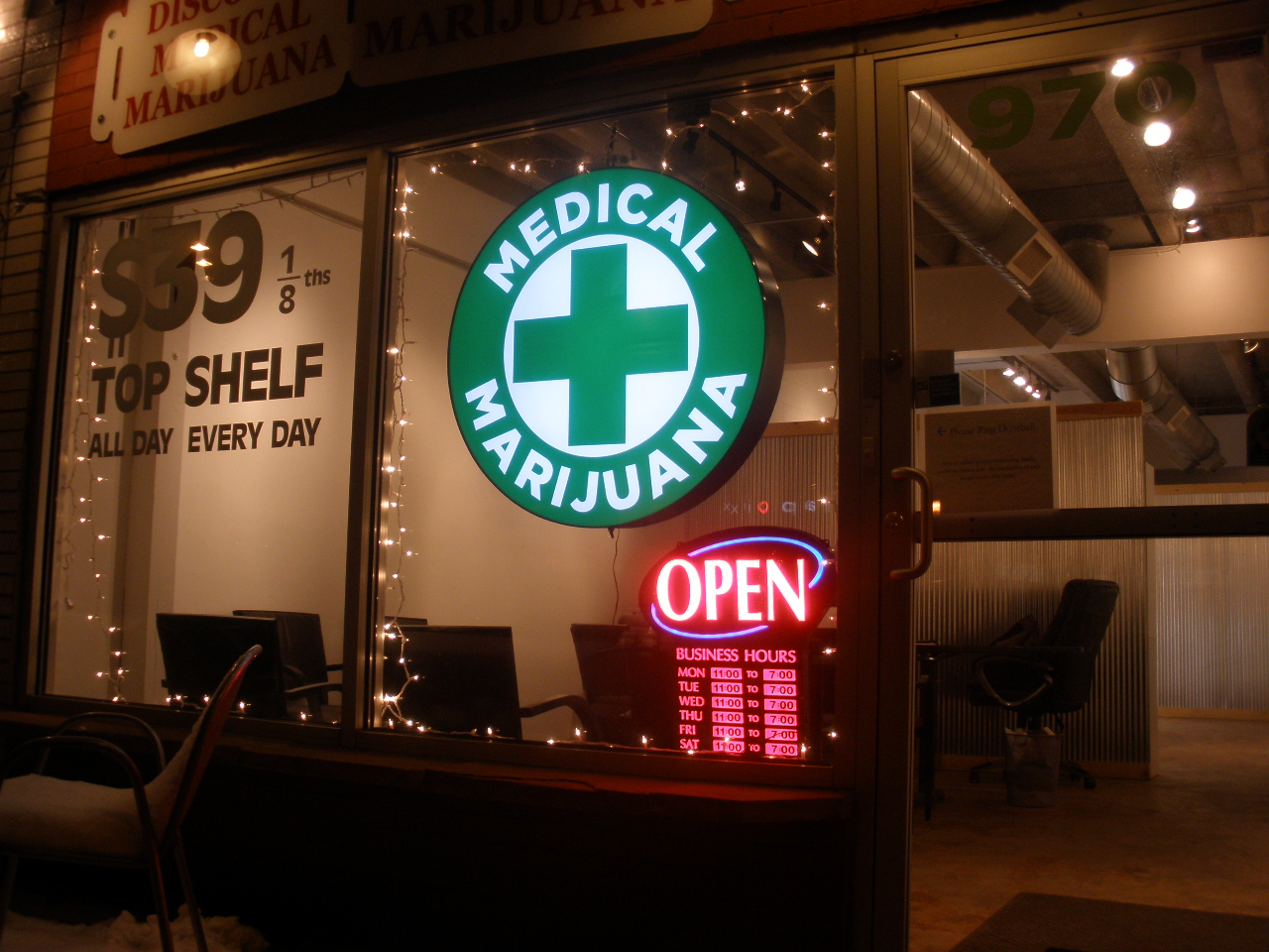 Medical marijuana dispensary in Denver.
