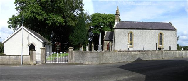File:Drumclamph Church of Ireland and hall - geograph.org.uk - 1478570.jpg