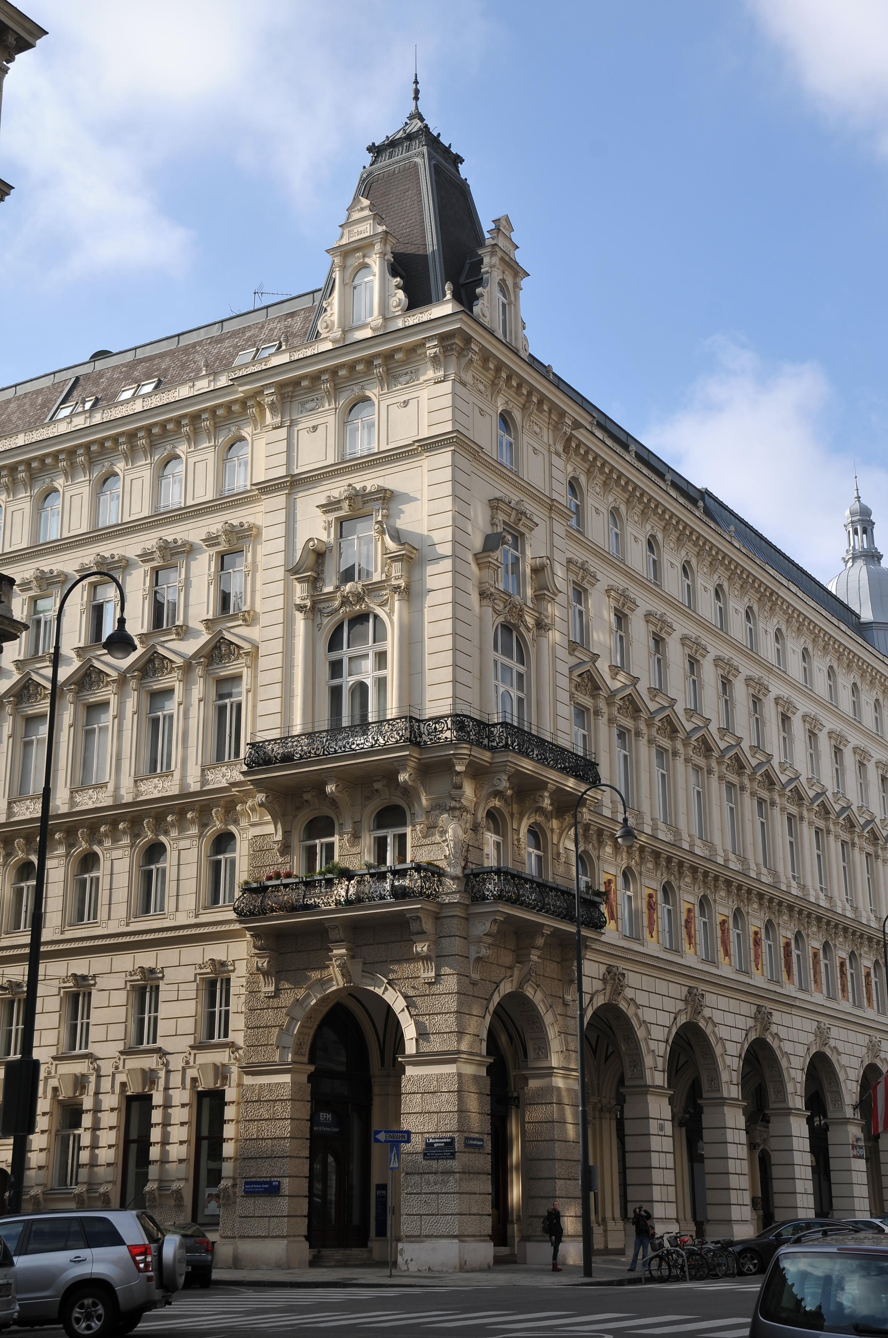 Ecke Bartensteingasse 15, Lichtenfelsgasse 5, Wien.JPG