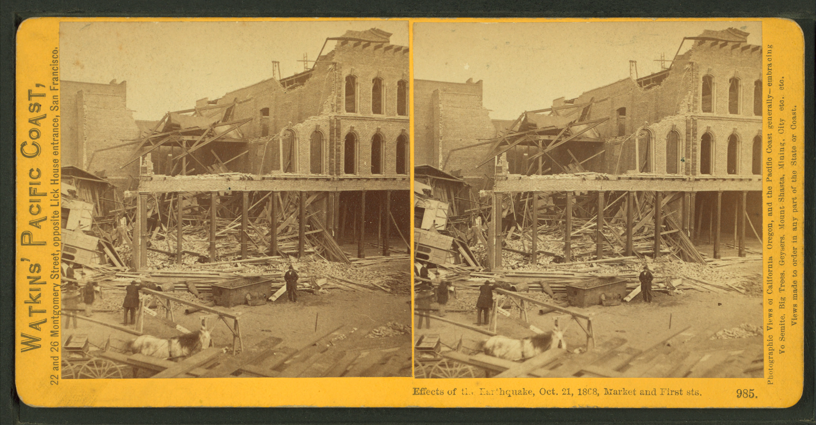 file effects of the earthquake oct 21 1868 market and first