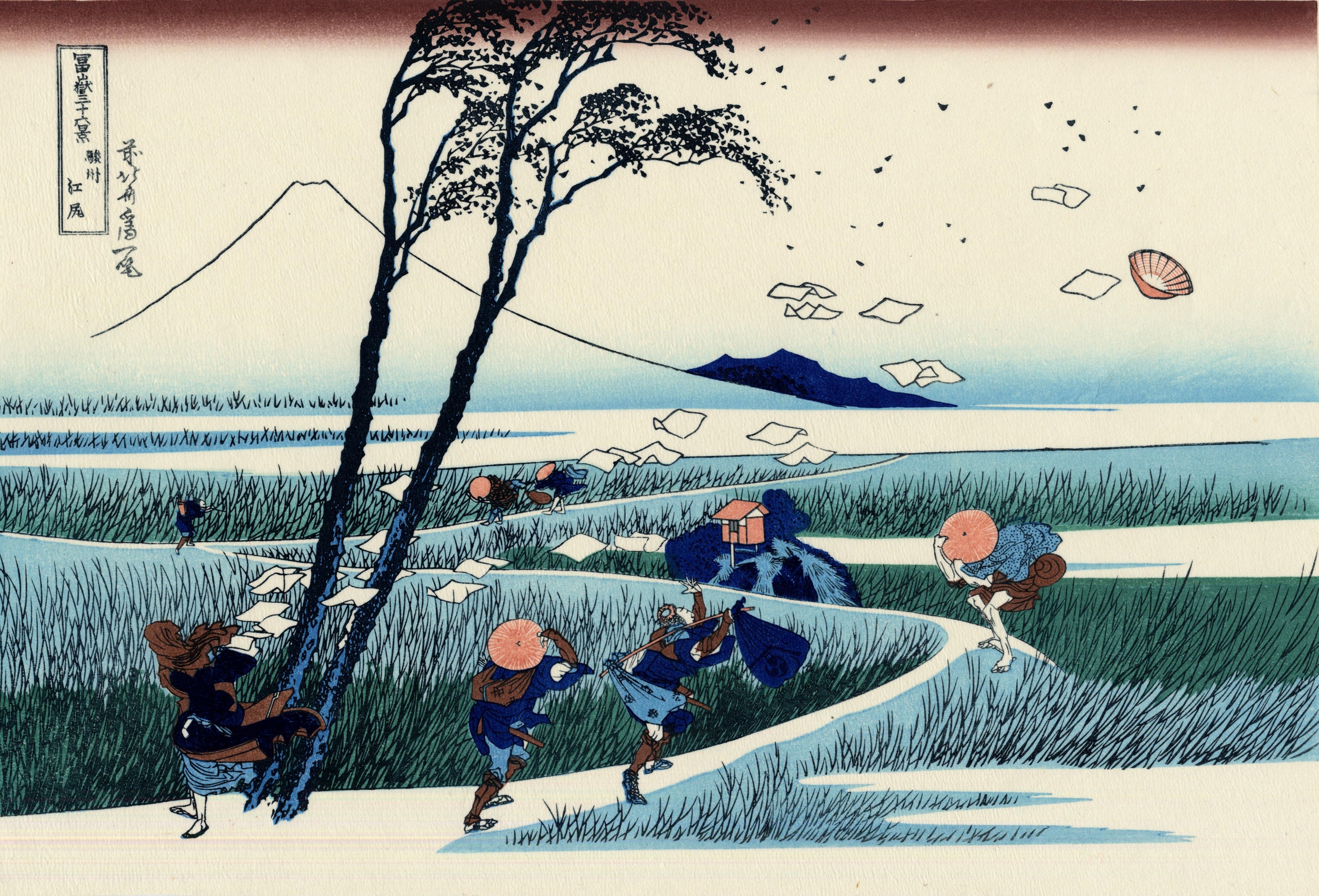 葛飾 北斎/かつしか ほくさい 巨浪(视频) - 水木白艺术坊 - 贵阳画室 高考美术培训