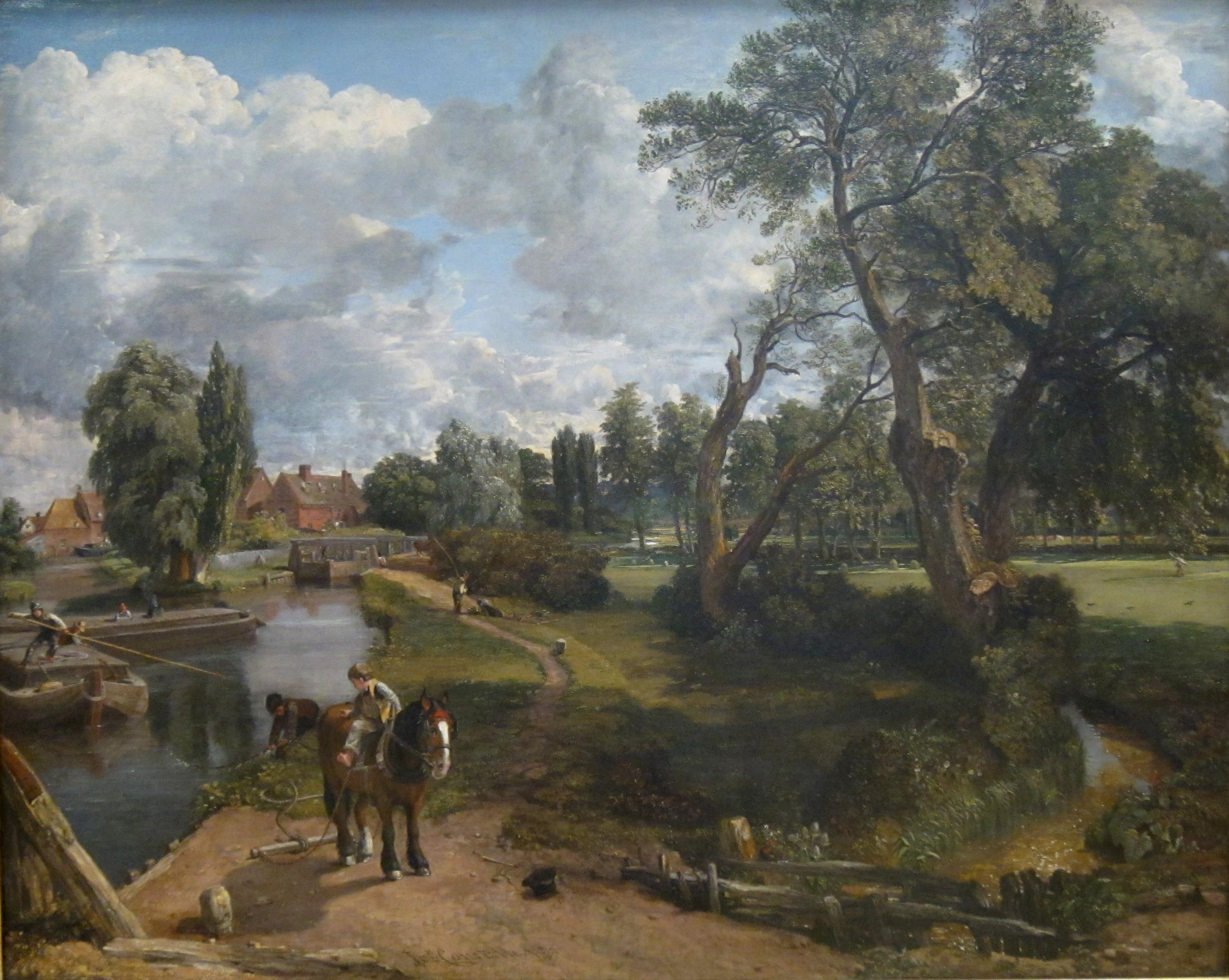 Flatford Mill (Scene on a Navigable River) by John Constable, Tate Britain.JPG
