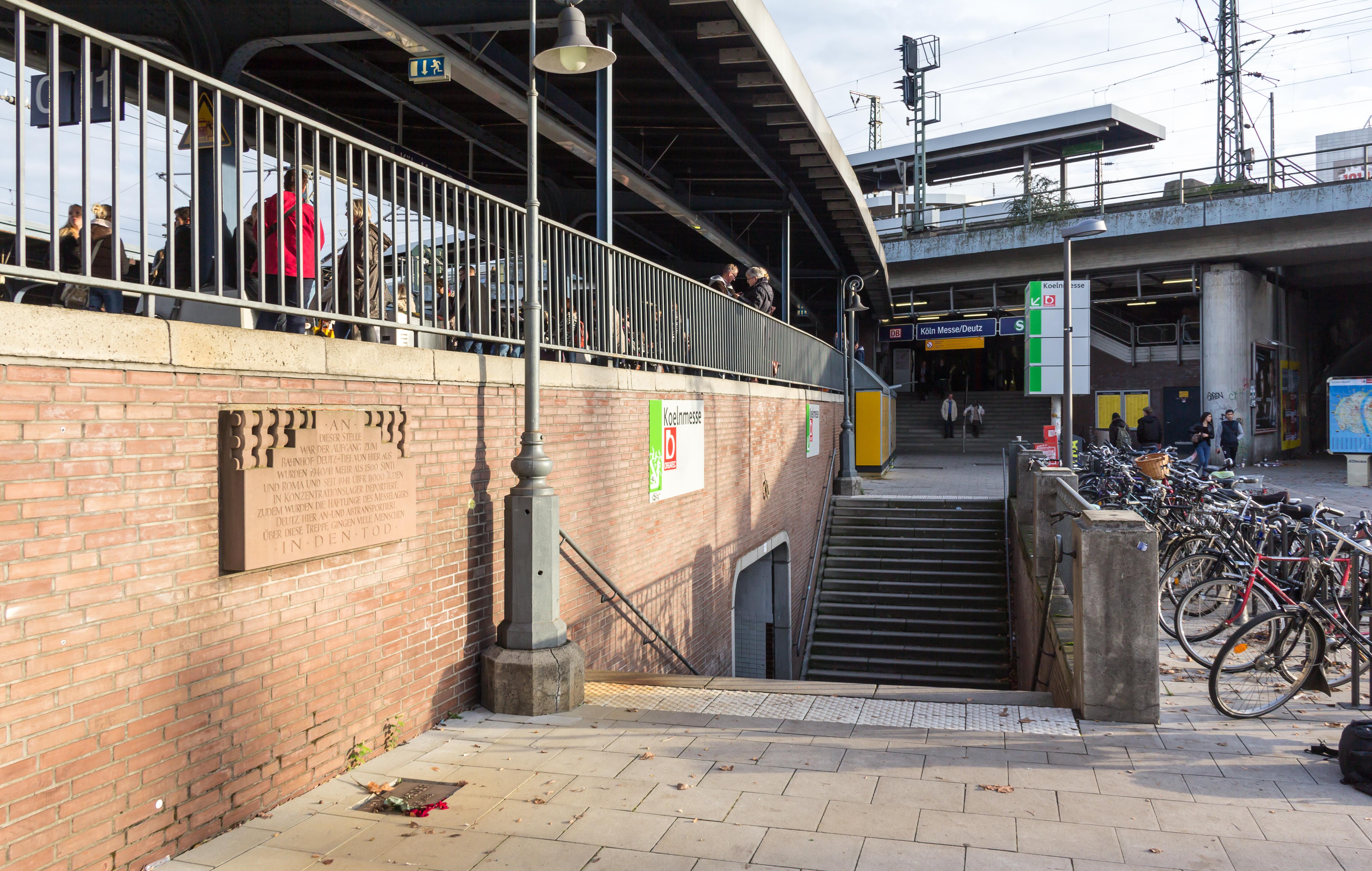 Файл:Gedenktafel Deportation Bahnhof Deutz-Tief, Auenweg-1246.jpg