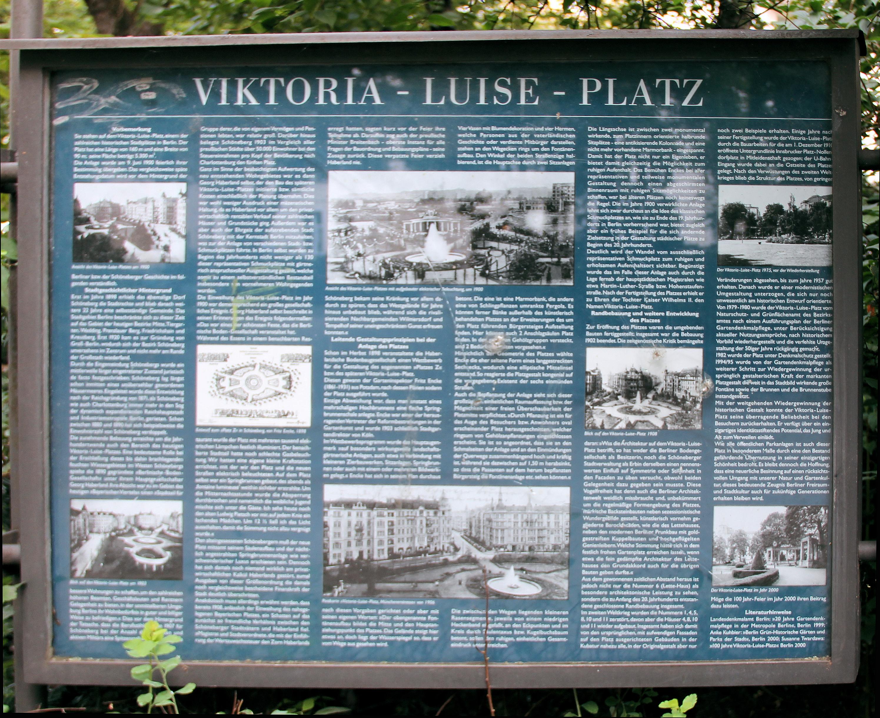 File Gedenktafel Viktoria Luise Platz Schob Viktoria Luise Platz