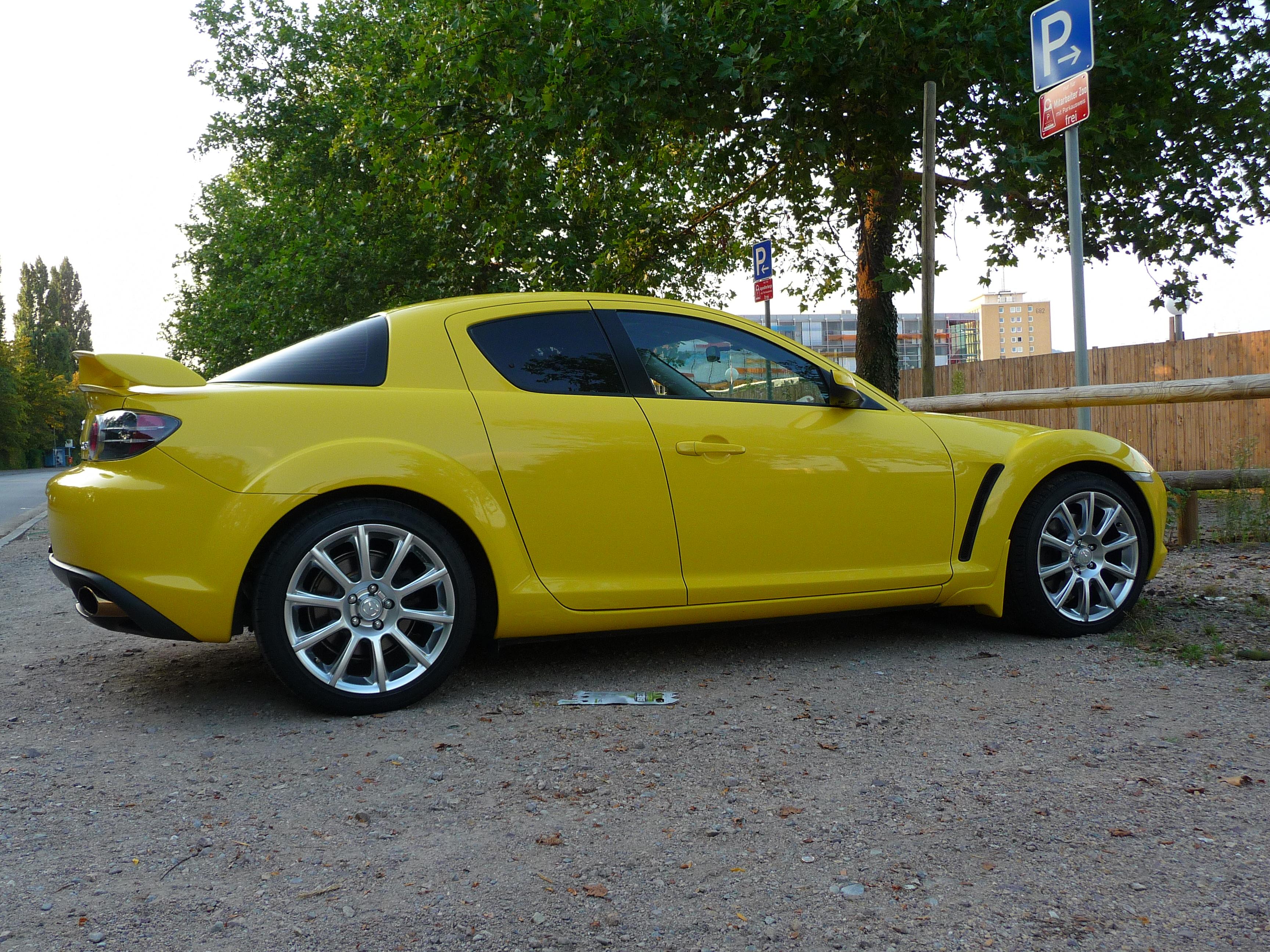 File Gelber Mazda Rx8 Jpg Wikimedia Commons