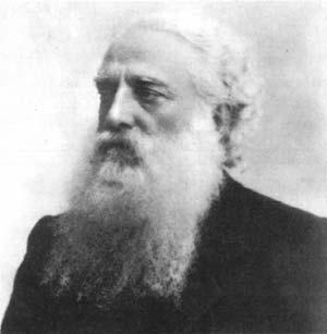 H.S. Olcottの肖像写真。仏旗の考案者