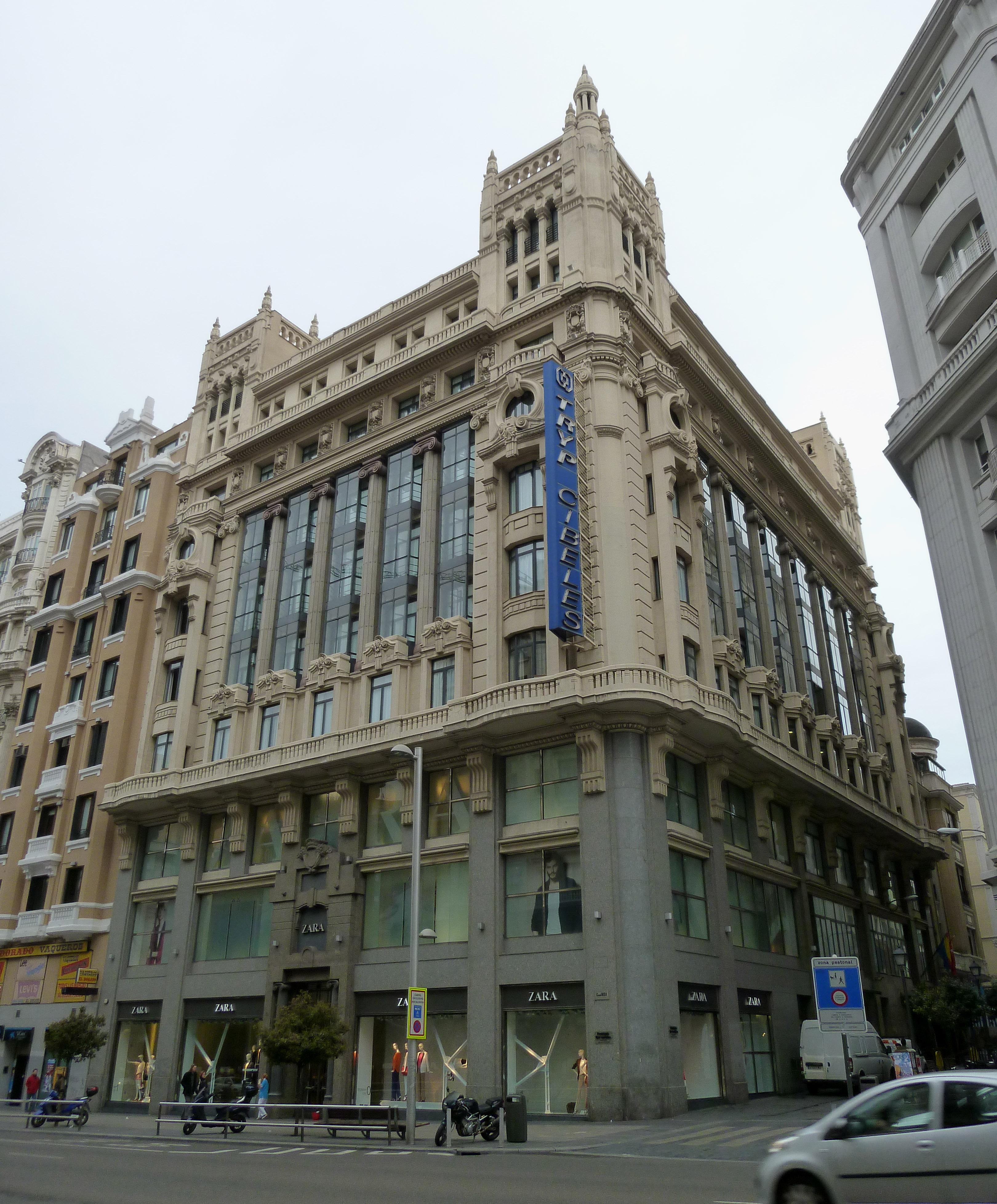 Archivo hotel tryp cibeles gran v a 34 madrid wikipedia la enciclopedia libre - One shot hotels madrid ...