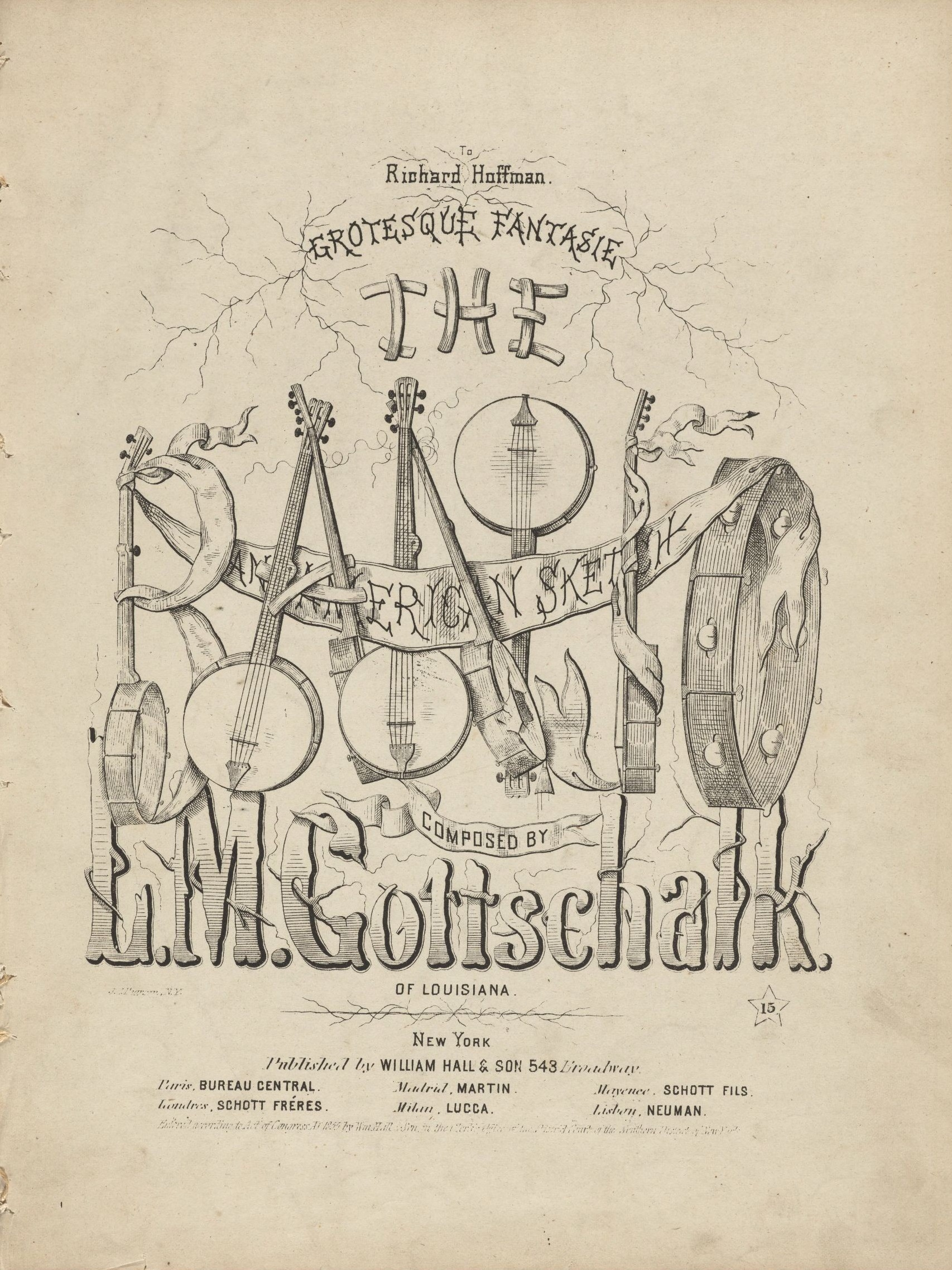 Gottschalk, The Banjo, frontespizio
