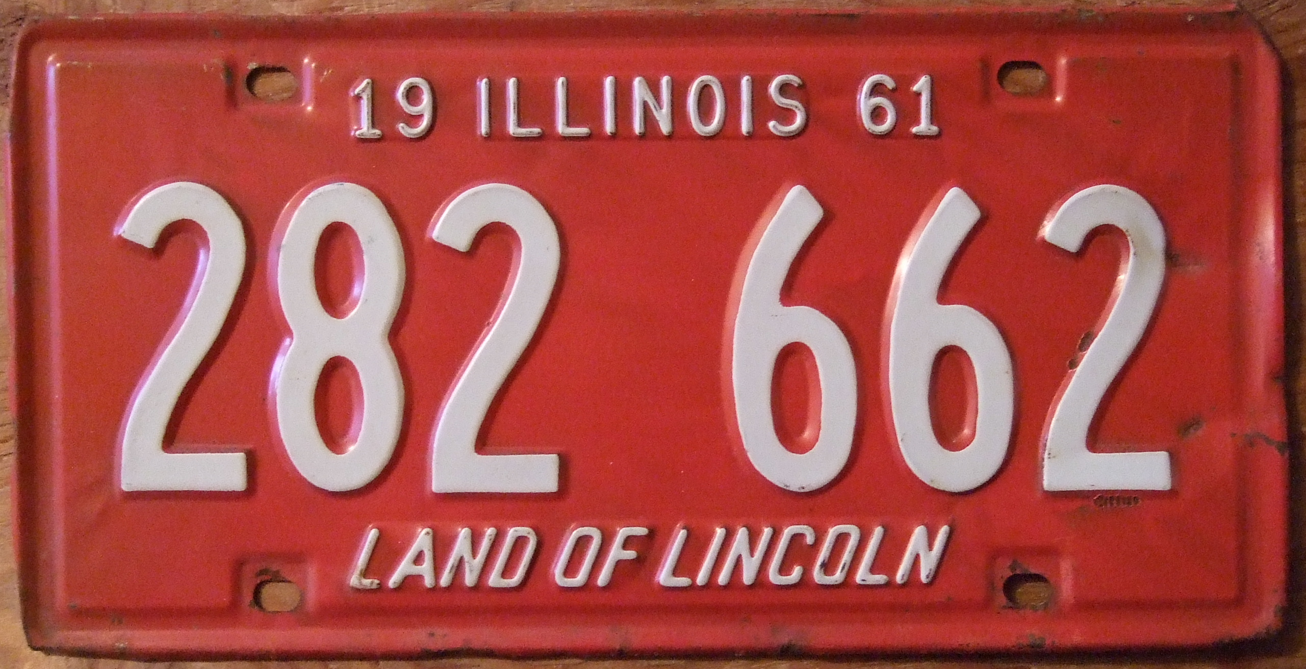 FileILLINOIS 1961 LICENSE PLATE 282-662 - Flickr - woody1778a.jpg  sc 1 st  Wikimedia Commons & File:ILLINOIS 1961 LICENSE PLATE 282-662 - Flickr - woody1778a.jpg ...