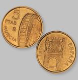 5 Spanish pesetas 1999