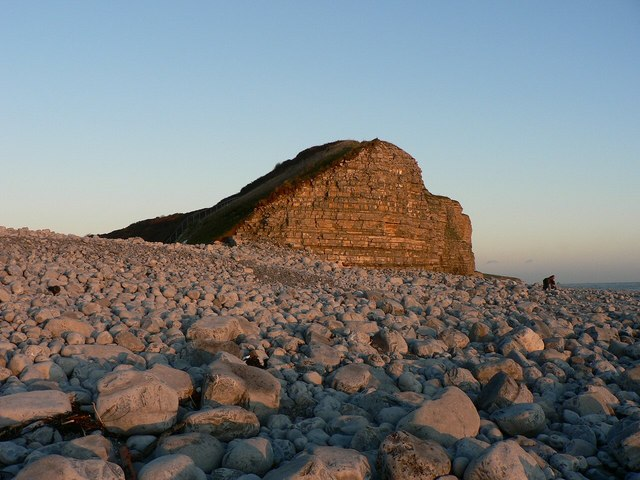 In the glow of sunset at Llantwit Major - geograph.org.uk - 1058892