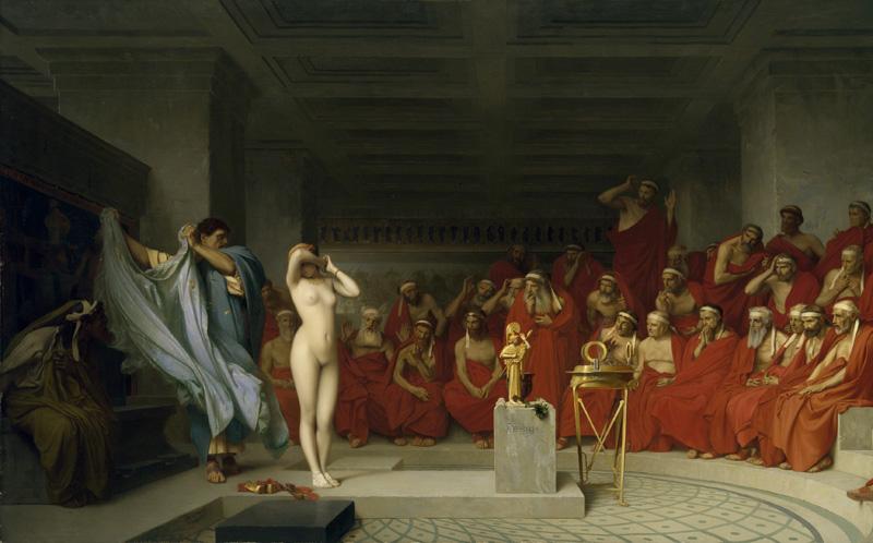 File:Jean-Léon Gérôme, Phryne revealed before the Areopagus (1861) - 02.jpg